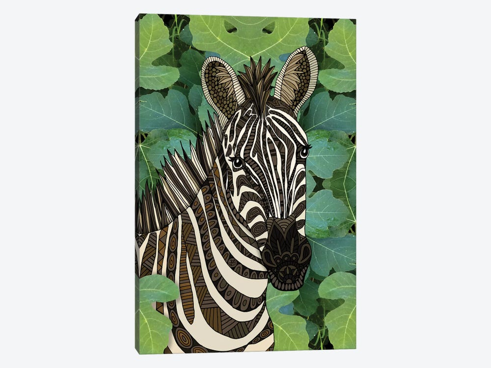 Zebra by Angelika Parker 1-piece Canvas Art