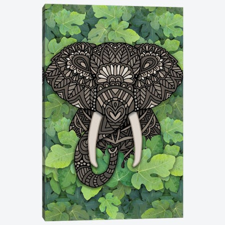 Jungle Elephant Canvas Print #ANG278} by Angelika Parker Canvas Art Print