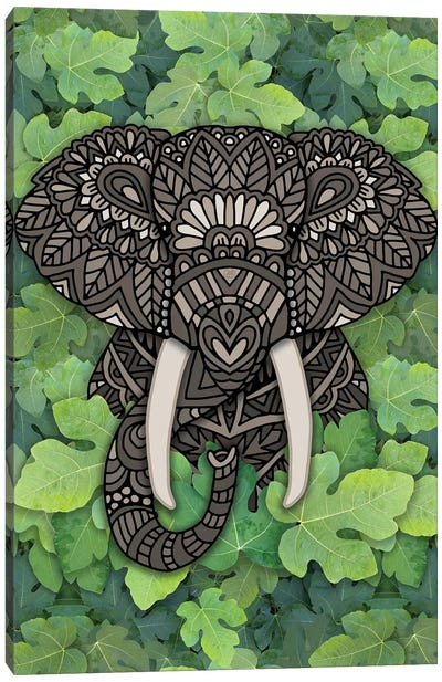 Jungle Elephant Canvas Art Print