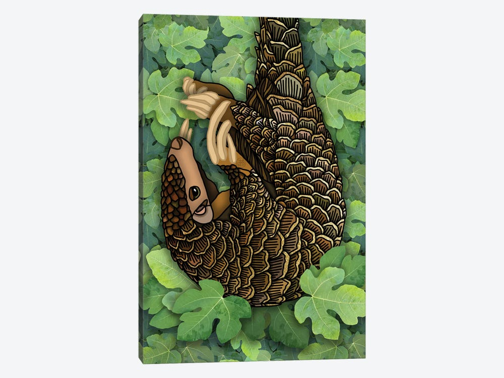 Pangolin by Angelika Parker 1-piece Canvas Art