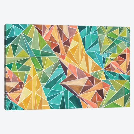 Fall Into Triangles Canvas Print #ANG27} by Angelika Parker Canvas Wall Art