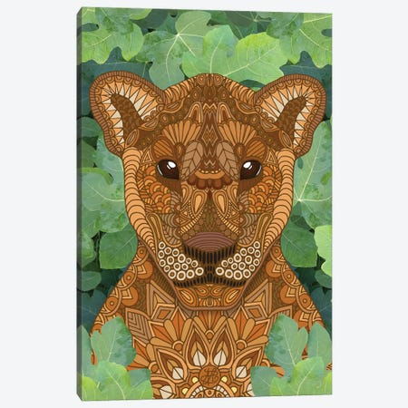 Lioness Queen Canvas Print #ANG280} by Angelika Parker Canvas Art