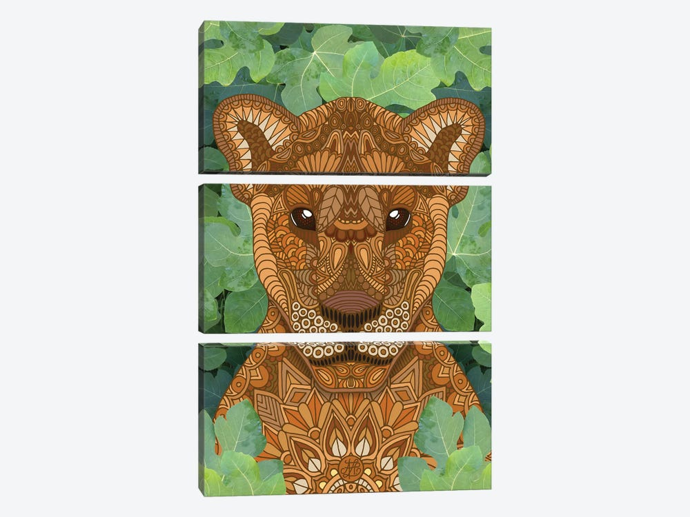 Lioness Queen by Angelika Parker 3-piece Canvas Art