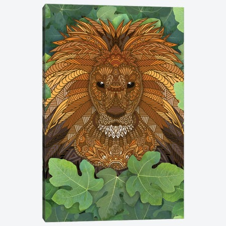 Lion King of the Jungle Canvas Print #ANG281} by Angelika Parker Canvas Art