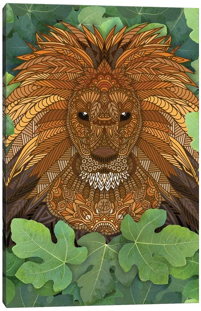 Lion King of the Jungle Canvas Art Print