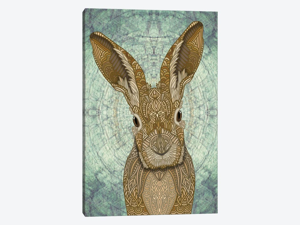 Ornate Bunny by Angelika Parker 1-piece Canvas Print