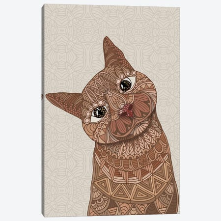 Hello Beautiful Cat Canvas Print #ANG288} by Angelika Parker Canvas Artwork