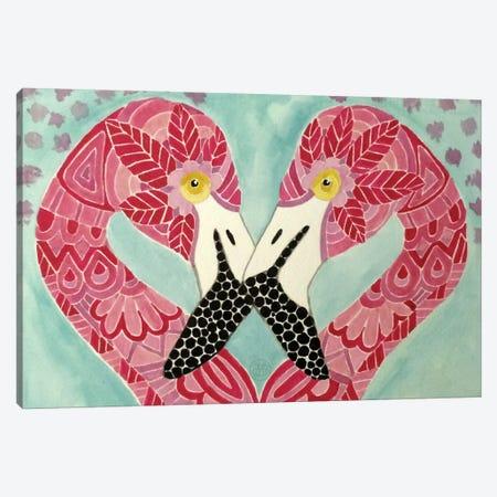 Flamingos Canvas Print #ANG28} by Angelika Parker Canvas Art Print