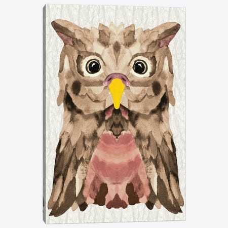 Mocha Owl Canvas Print #ANG290} by Angelika Parker Canvas Art Print