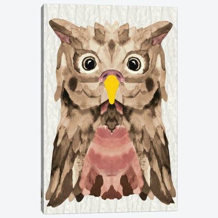 Mocha Owl Canvas Print #ANG290} by Angelika Parker Canvas Art Print