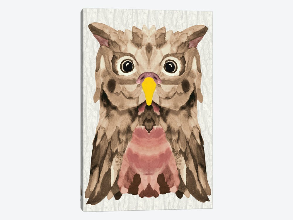 Mocha Owl by Angelika Parker 1-piece Art Print