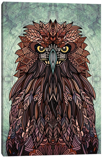Golden Eagle Portrait Canvas Art Print