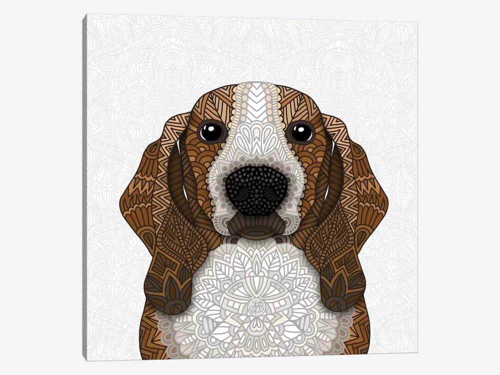 Basset Hound by Angelika Parker 1-piece Canvas Art Print