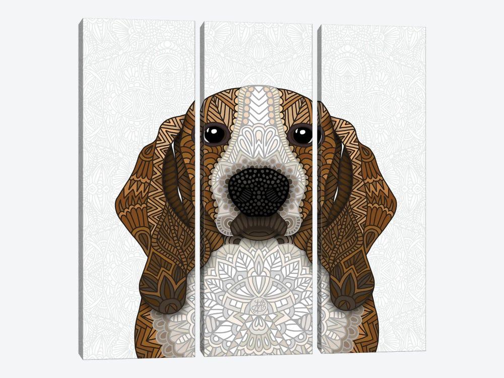 Basset Hound by Angelika Parker 3-piece Art Print
