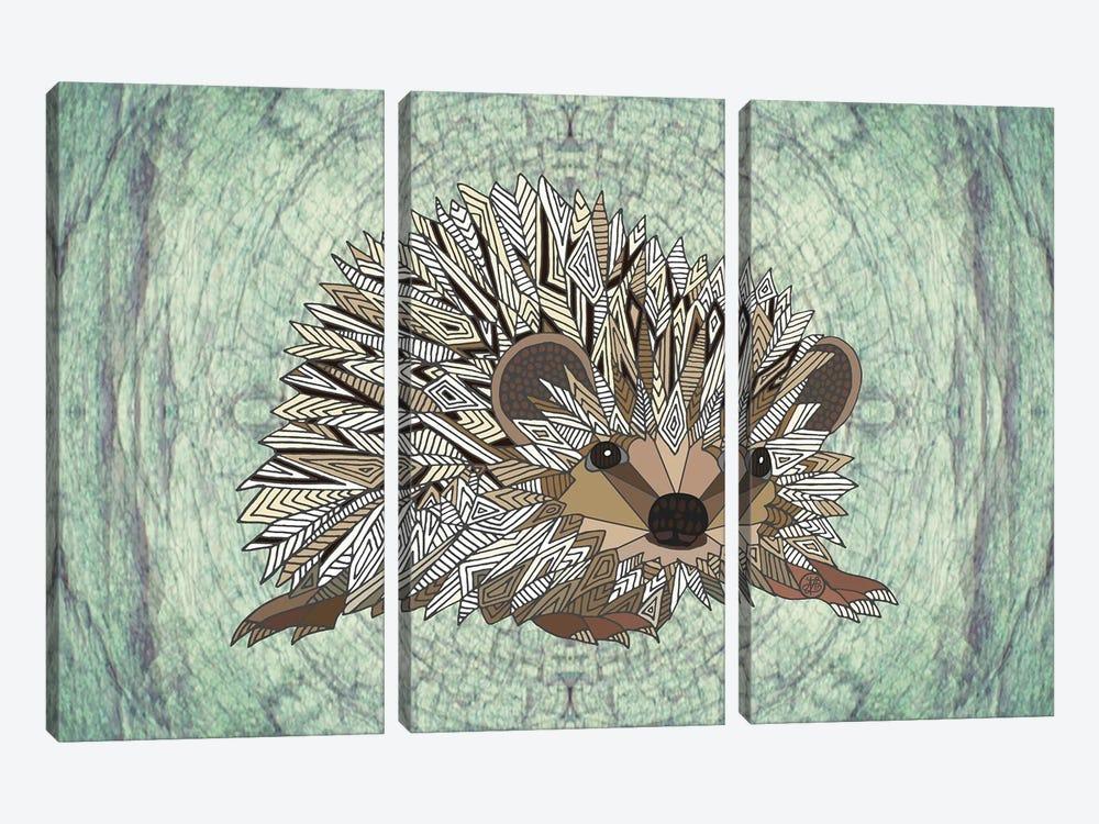 Woodland Hedgehog by Angelika Parker 3-piece Canvas Art