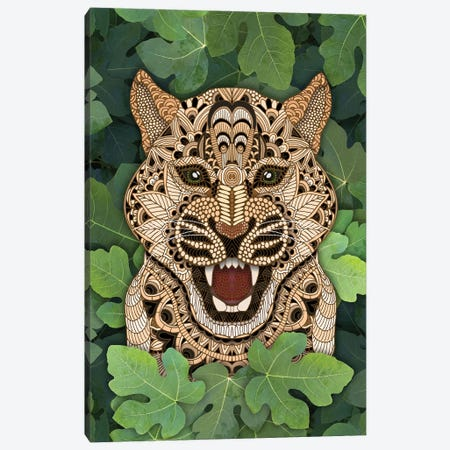 Jungle Leopard Canvas Print #ANG294} by Angelika Parker Canvas Artwork