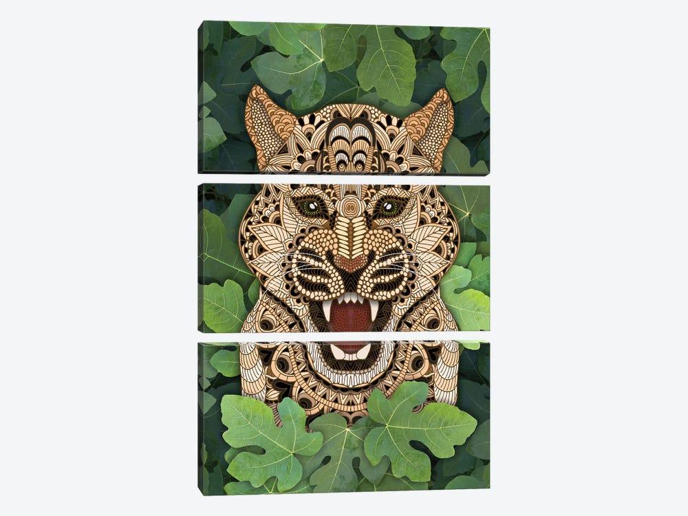 Jungle Leopard by Angelika Parker 3-piece Canvas Print