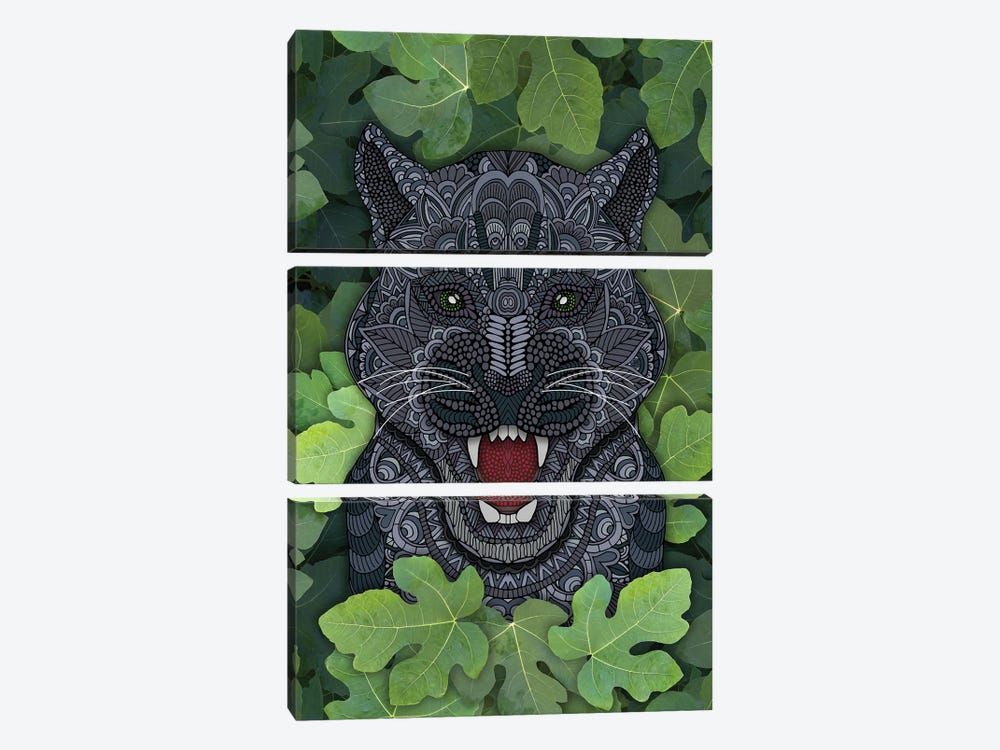 Jungle Panther by Angelika Parker 3-piece Canvas Artwork