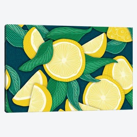 Pop Art Lemons Canvas Print #ANG298} by Angelika Parker Canvas Art Print