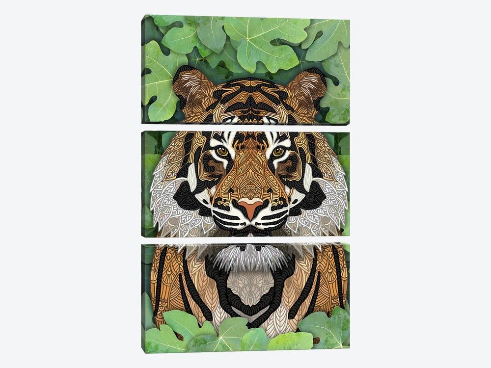 Jungle Tiger by Angelika Parker 3-piece Canvas Artwork