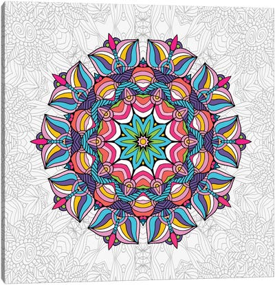 Art Love Passion - Mandala Canvas Print #ANG2