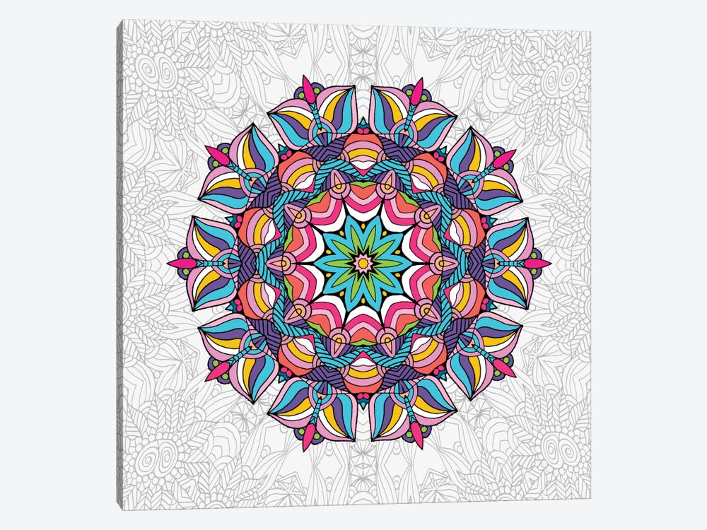 Art Love Passion - Mandala by Angelika Parker 1-piece Canvas Print