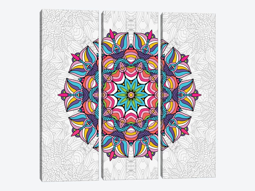 Art Love Passion - Mandala by Angelika Parker 3-piece Canvas Print