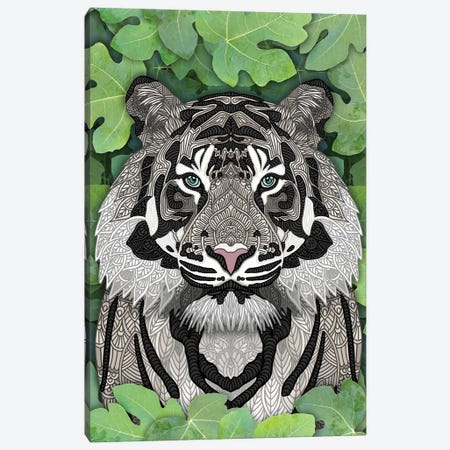 White Jungle Tiger Canvas Print #ANG300} by Angelika Parker Canvas Art Print