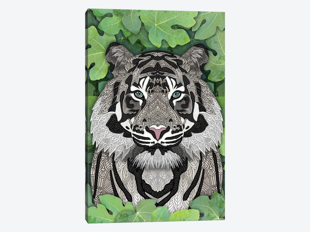 White Jungle Tiger by Angelika Parker 1-piece Art Print