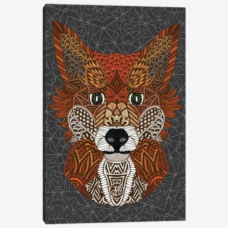 Fox Canvas Print #ANG30} by Angelika Parker Canvas Artwork