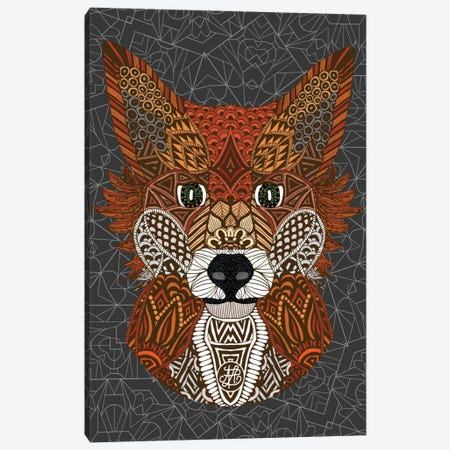 Fox Canvas Print #ANG30} by Angelika Parker Canvas Artwork