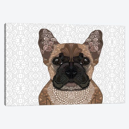 French Bulldog Canvas Print #ANG32} by Angelika Parker Canvas Wall Art
