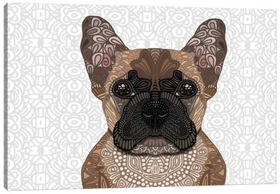 French Bulldog by Angelika Parker Canvas Art Print