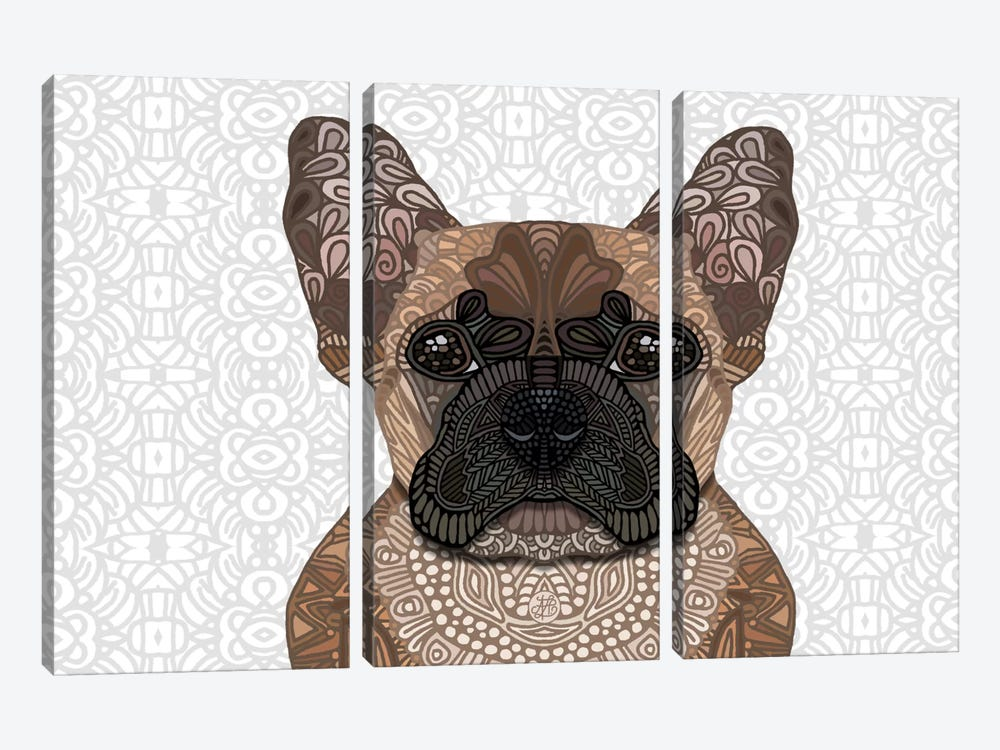 French Bulldog by Angelika Parker 3-piece Art Print