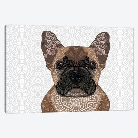 French Bulldog Canvas Print #ANG32} by Angelika Parker Canvas Wall Art