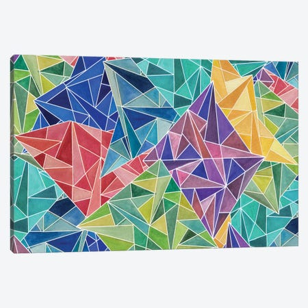 Geometric Rainbow Canvas Print #ANG35} by Angelika Parker Art Print