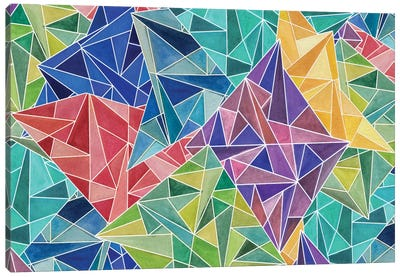 Geometric Rainbow Canvas Art Print