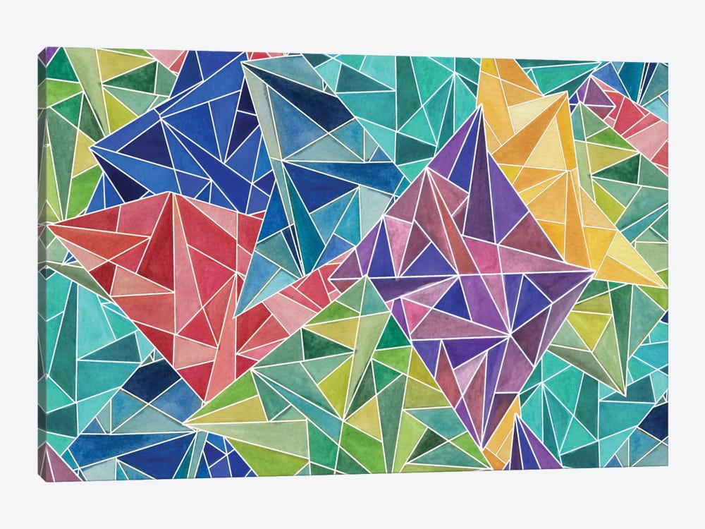 Geometric Rainbow by Angelika Parker 1-piece Canvas Wall Art