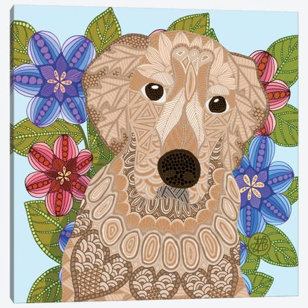 Golden Retriever Canvas Print #ANG37} by Angelika Parker Canvas Print