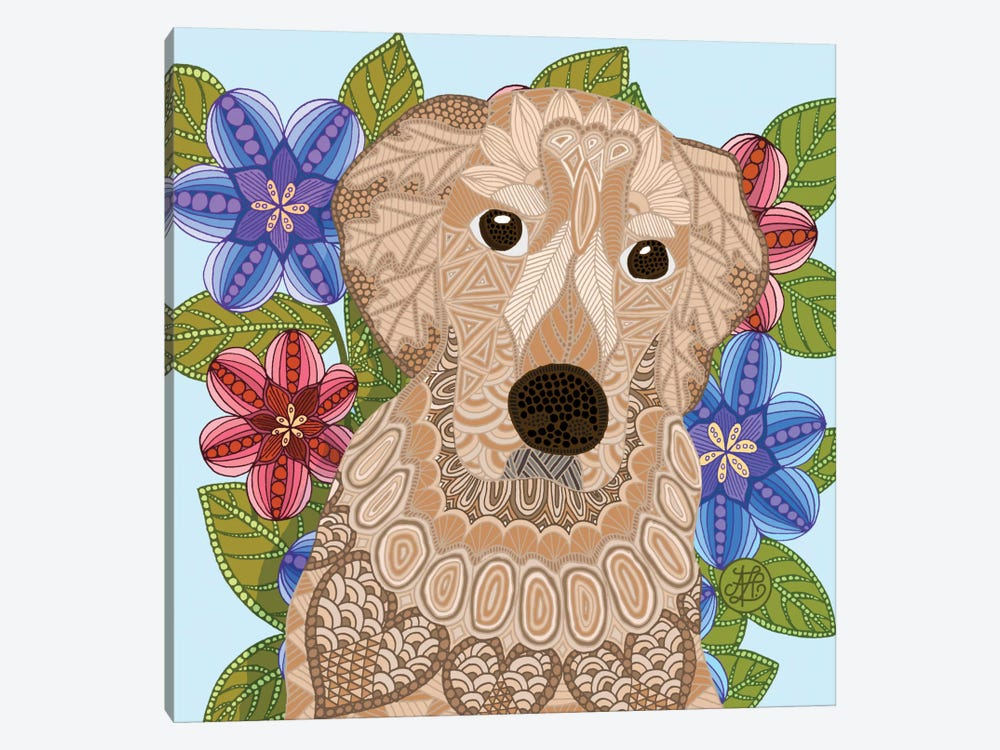 Golden Retriever by Angelika Parker 1-piece Canvas Wall Art