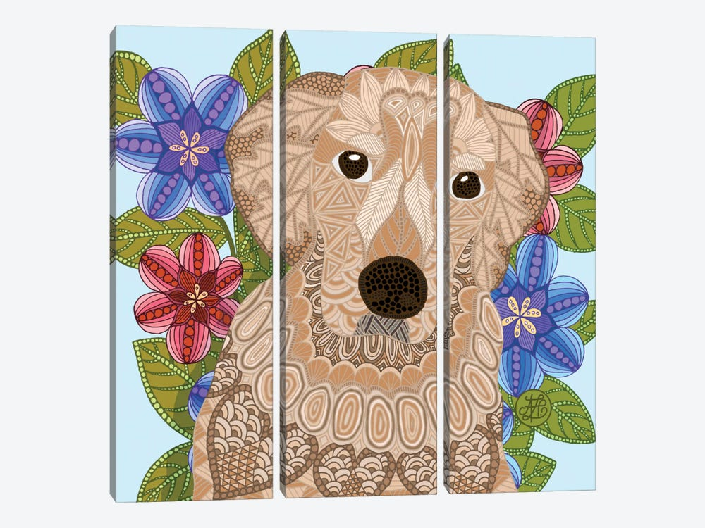 Golden Retriever 3-piece Canvas Art