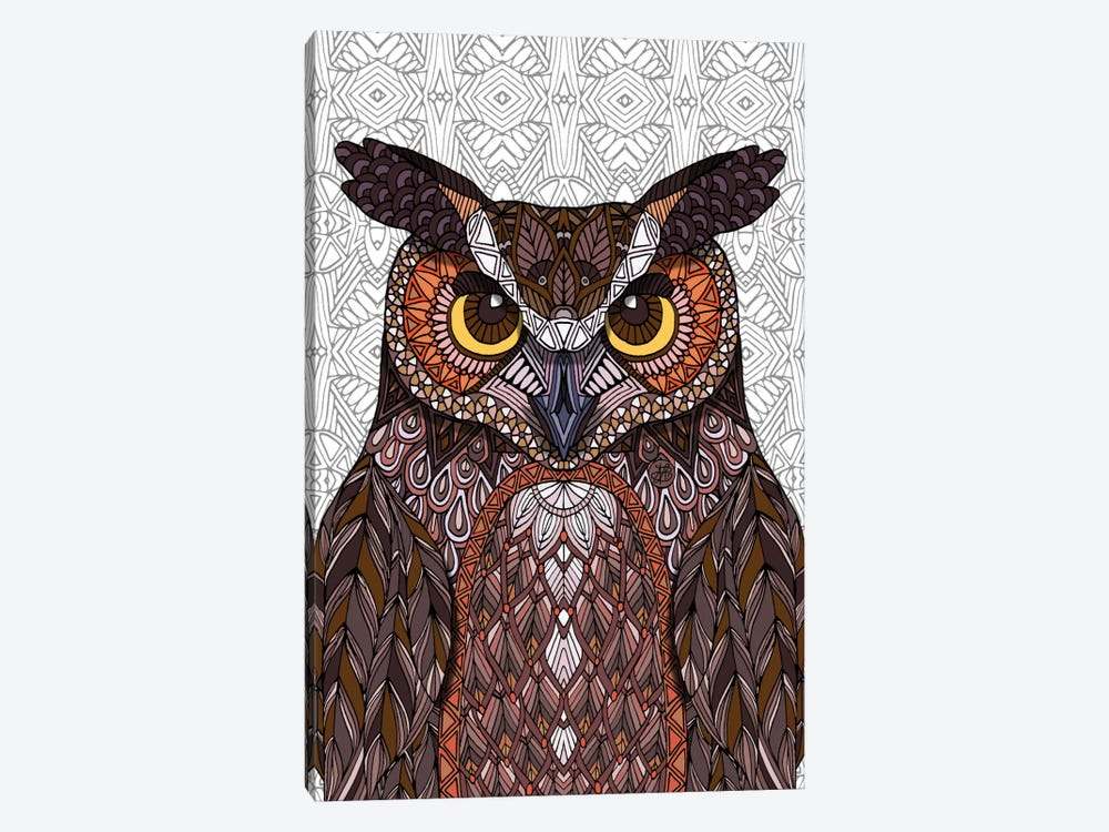 Great Horned Owl by Angelika Parker 1-piece Canvas Wall Art