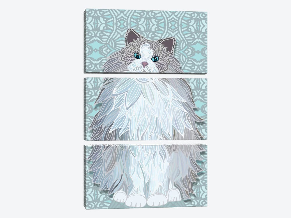 Aurora Ragdoll by Angelika Parker 3-piece Canvas Wall Art