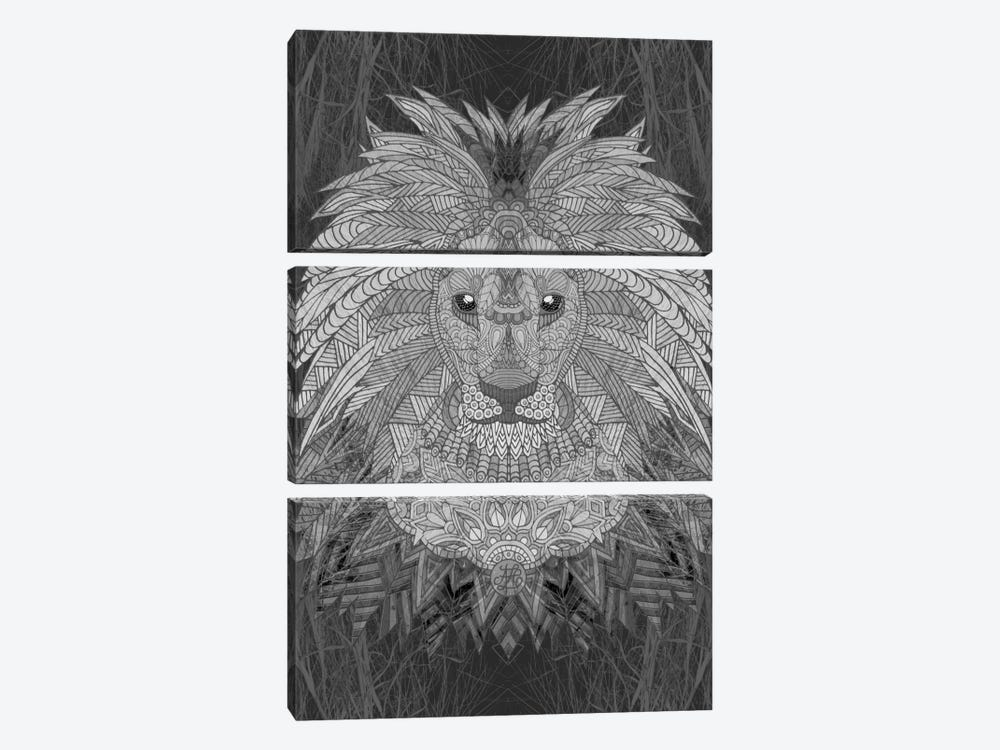 Great Lion by Angelika Parker 3-piece Canvas Artwork