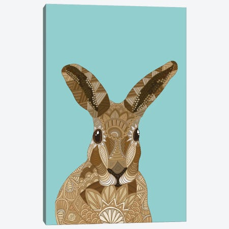 Happy Hare Canvas Print #ANG43} by Angelika Parker Canvas Print