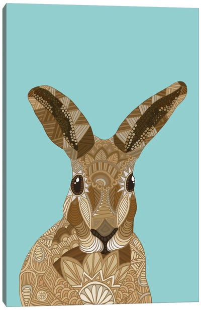 Happy Hare Canvas Art Print