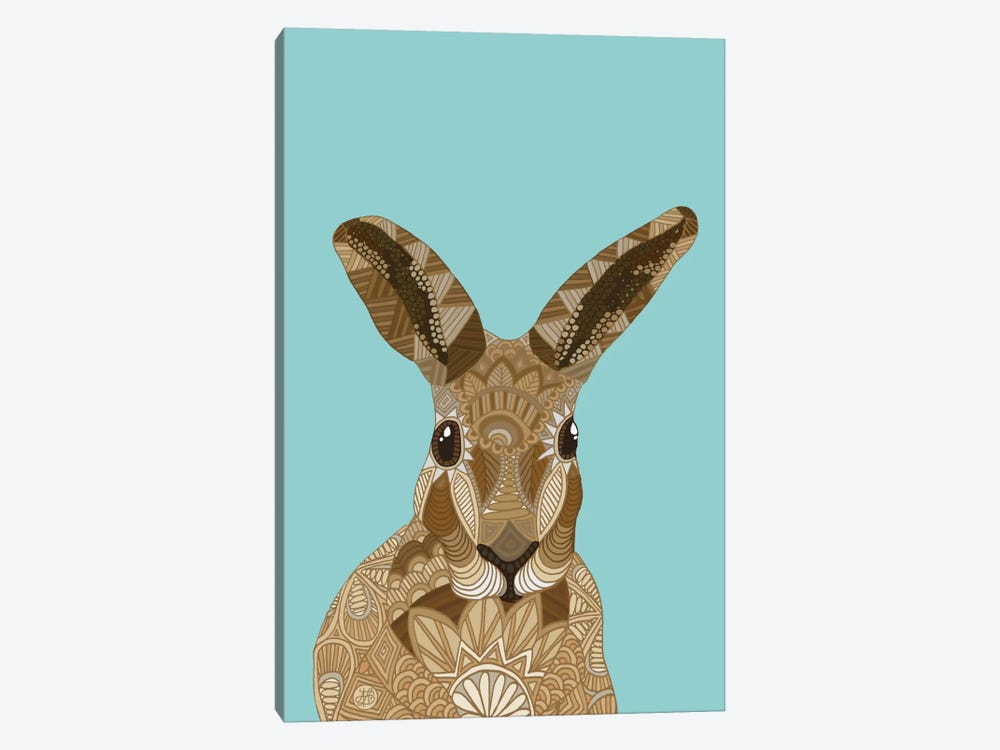 Happy Hare by Angelika Parker 1-piece Canvas Art Print