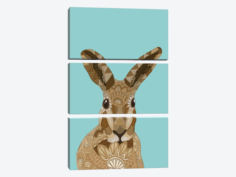 Happy Hare by Angelika Parker 3-piece Canvas Art Print