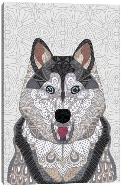 Happy Husky Canvas Print #ANG44