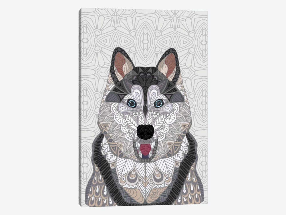 Happy Husky by Angelika Parker 1-piece Canvas Art